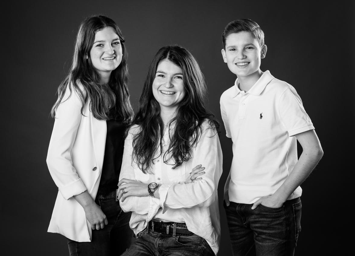 Studio Dijkgraaf studio fotografie Rotterdam Familiefoto zwart-wit